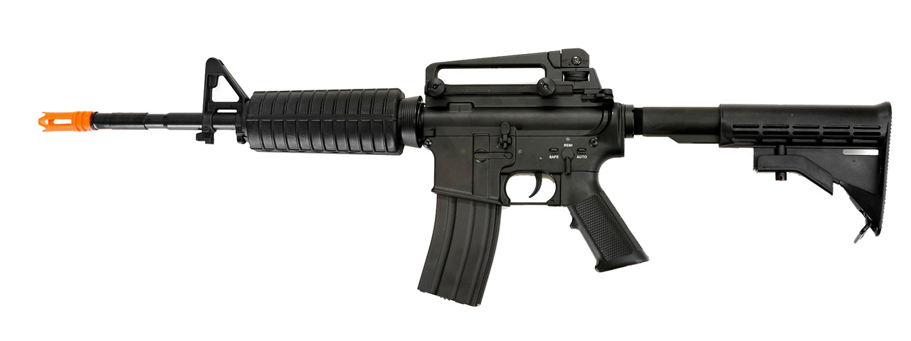 BI-3681M-NB METAL M4A1 CARBINE AEG RIFLE - NO BATTERY/CHARGER (BLACK) - Click Image to Close