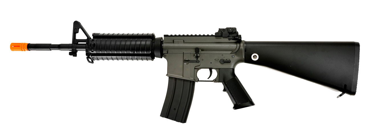 JG F6619 SR16 RIS AEG Metal Gear, Polymer Body, Rail Covers, Fixed Stock - Click Image to Close