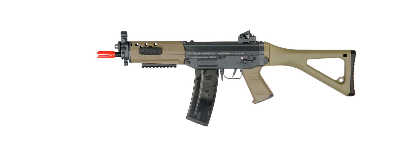 ICS AIRSOFT SIG 552 COMMANDO AEG TACTICAL FOLDING STOCK - DARK EARTH - Click Image to Close
