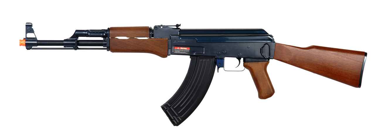 Golden Eagle JG JG0506MG AK-47 AEG Metal Gear, Polymer Body, Fixed Stock, Wood Finish - Click Image to Close