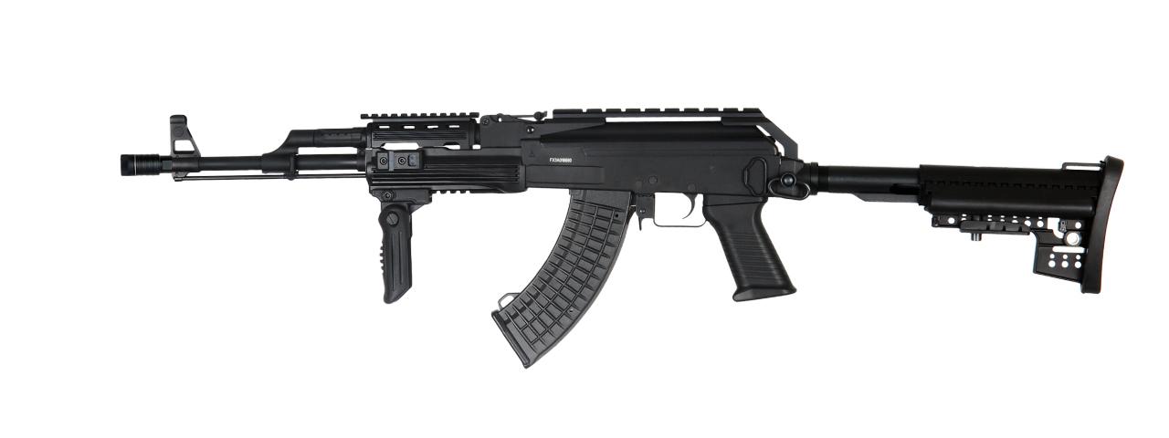 JG AIRSOFT FULL METAL AK47 RAS TCW AEG RIFLE W/ FOREGRIP [JG0517T