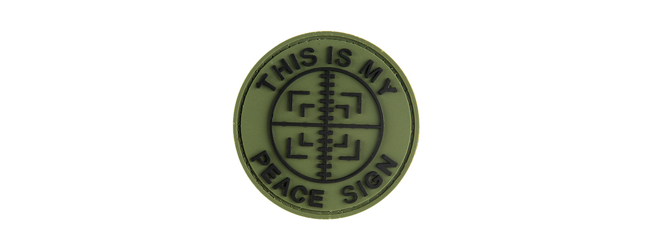 G Force This Is My Peace Sign Pvc Patch Patch Hpb Og Airsoft