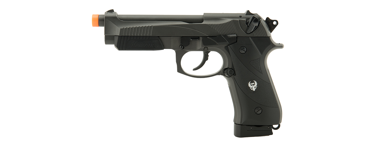 HFC AIRSOFT 192 CO2 POWERED AIRSOFT PISTOL W/ ACCESSORY RAIL- BLACK - Click Image to Close