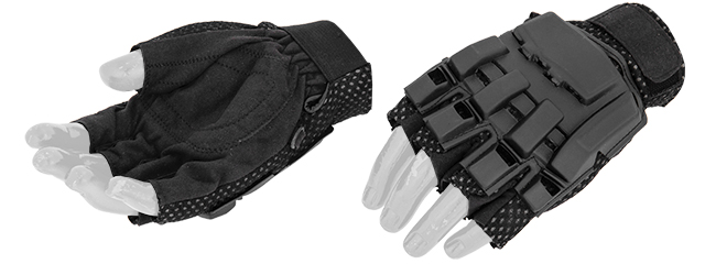 AC-222S Paintball Glove Half Finger (Black) - Size S