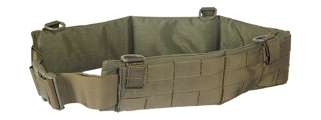 AC-236GM MOLLE BATTLE BELT (COLOR: FOLIAGE GREEN) SIZE: MEDIUM