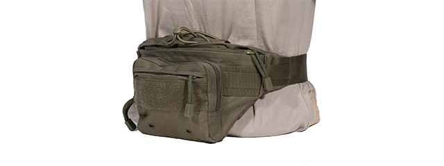 AC-297G TACTICAL HIP-PACK (COLOR: OD GREEN)