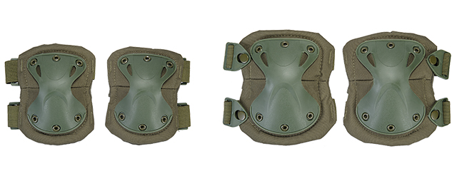 AC-478G TACTICAL QUICK-RELEASE KNEE & ELBOW PAD SET (OD GREEN)