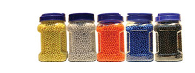 Cyma BB05(BOTTLE)CYM 0.12g 6mm Seamless BBs, 5000 Rounds per Bottle, Single Color per Case