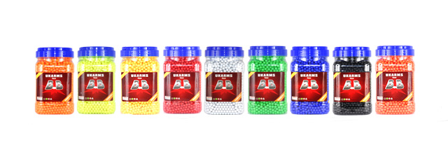 UKARMS BB5000(BOTTLE)U 0.12g 6mm BBs, 5000 Rounds per Bottle, Single Color per Case