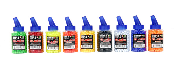 UKARMS BB500BT 0.12g 6mm BBs, 500 Rounds per Bottle, Mixed Colors per Case