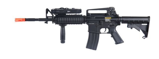 DBOYS BI-5181M M4 RIS CARBINE FULL METAL AIRSOFT AEG w/PEQ2 BOX (COLOR: BLACK)