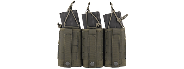 CA-379GN NYLON VARIABLE DEPTH ADJUSTMENT MOLLE TRIPLE MAG POUCH (OD)
