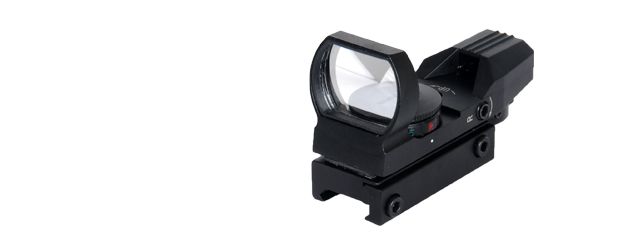 Lancer Tactical CA-401B Red & Green Dot Reflex Sight - 4 Reticles