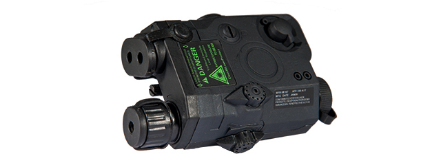 PEQ-15 LA-5 BATTERY CASE + GREEN LASER (COLOR: BLACK)
