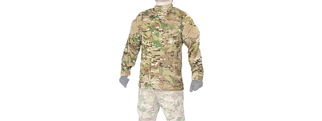 CA-818LG1 R6 STYLE BDU SHIRT (COLOR: MODERN CAMO) SIZE: LARGE