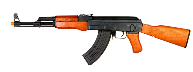 Cyma CM046 AK47 AEG Metal Gear, Full Metal Body, Electric Blow Back, Real Wood, Fixed Stock