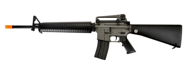 Golden Eagle JG F6610 Super Enhanced M16 A3 AEG Metal Gear, Polymer Body