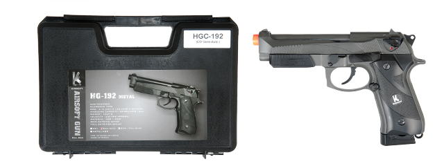HFC HGC-192 Gas Powered Pistol w/Accessory Rail & Rail Cover