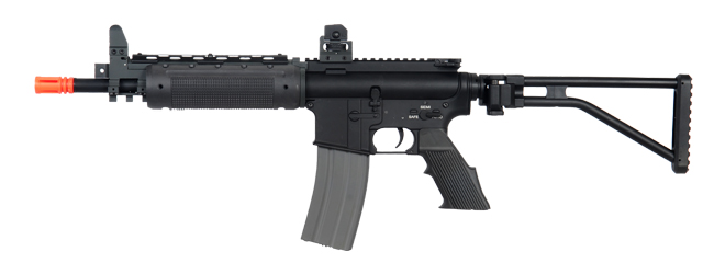 A&K IU-M300-NB G300 SHORT VERSION AEG METAL GEAR/BODY, METAL FOLDING STOCK IN BLACK