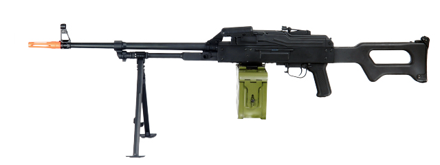 A&K IU-PKM-NB PKM Russian General Purpose Squad Machine Gun AEG, No Battery