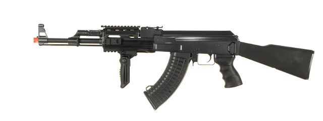 JG JG0512MG Tactical AK-47 RIS AEG Metal Gear, Polymer Body, Fixed Stock