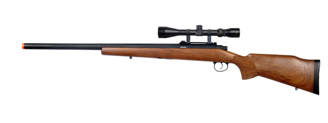 JG JG376WA M70 Bolt Action Rifle w/ Scope, Wood