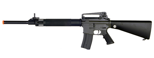 Golden Eagle JG6628 M16 UFC AEG Metal Gear, ABS Body, Removable Carry Handle, Fixed Stock