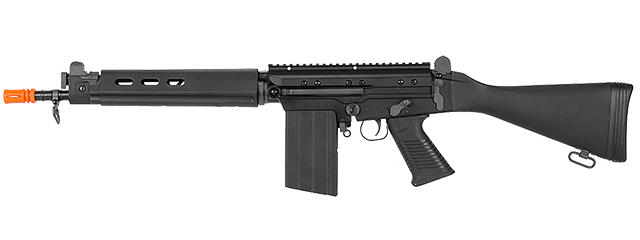 Lancer Tactical M2010-C-NB FAL AEG Metal Gear, Full Metal Body, Fixed Stock, Battery & Charger Not Included