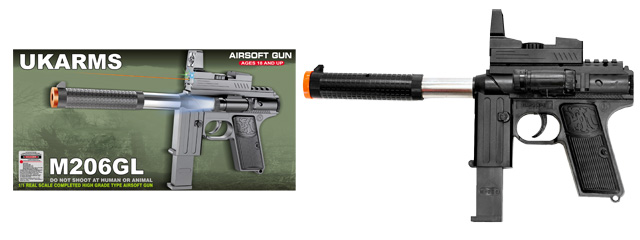 UKARMS M206GL Spring Pistol w/ Laser and Flashlight