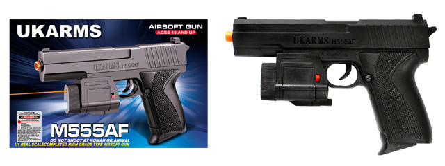 UKARMS M555AF Spring Pistol w/ Laser and Flashlight