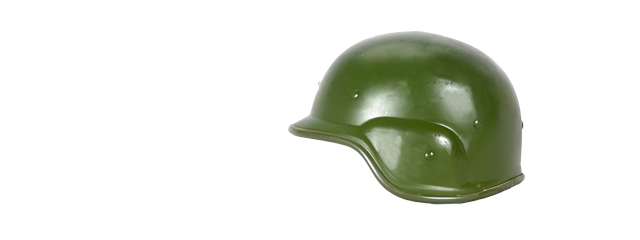 PASGT Airsoft Helmet w/ Adjustable Chin Strap (GREEN)