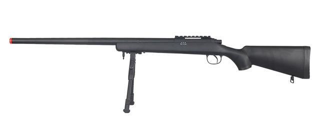 WELL MB03BBIP VSR-10 BOLT ACTION RIFLE w/BIPOD (COLOR: BLACK)