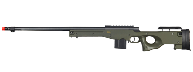 WELL MB4402G L96 AWP BOLT ACTION RIFLE w/FLUTED BARREL (COLOR: OD GREEN)