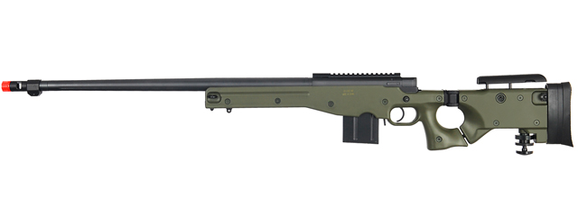 WELL MB4403G L96 AWP BOLT ACTION RIFLE w/FLUTED BARREL (COLOR: OD GREEN)