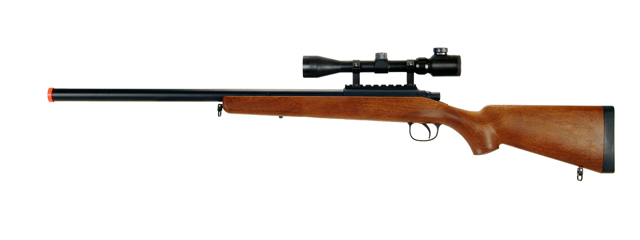 AGM MP001AA BOLT ACTION SNIPER RIFLE w/SCOPE (COLOR: WOOD)