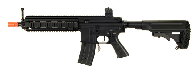 AGM MP051 MK416 AEG METAL GEAR w/CRANE STOCK, FULL METAL BODY, FREE-FLOAT RIS (BLACK)