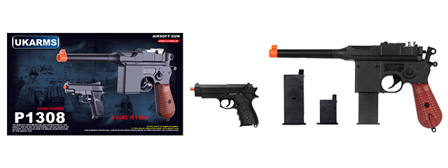 UKARMS P1308 High performance Spring Pistol Set (Includes 2 guns in 1 package)