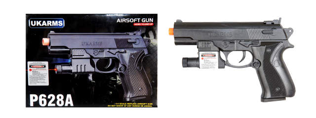 UKARMS P628A Spring Pistol w/ Laser and Flashlight