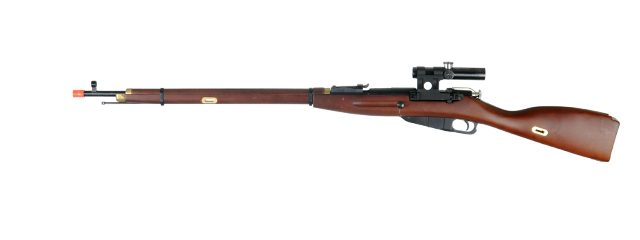 PPS PPSSP0002 Mosin Nagant Bolt Action Sniper Rifle, Real Wood w/ Scope