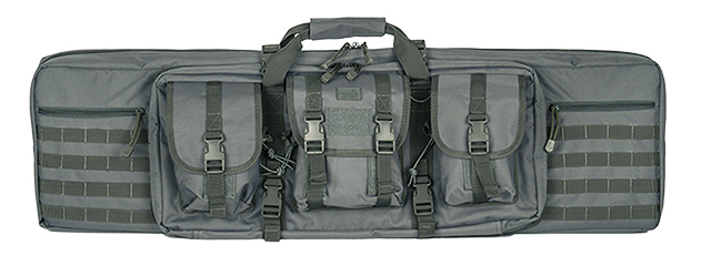 "CA-343GY2 MOLLE 42"" DOUBLE GUN BAG (GRAY)"