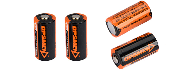 CR123A-OPSMEN 4-PACK CR123A HIGH PERFORMANCE LITHIUM BATTERIES