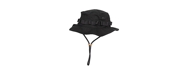 M2619B COTTON HYBRID TACTICAL VENTILATED BOONIE HAT (BLACK )