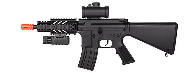 M805B2 DOUBLE EAGLE M4 AEG RIFLE (BK) w/ RED-DOT SIGHT, FLASHLIGHT, LASER
