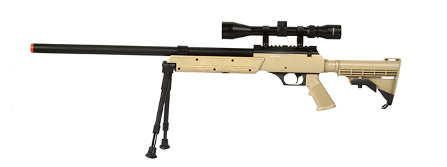 WELL APS SR-2 MODULAR BOLT ACTION SNIPER RIFLE MB06A W/ SCOPE & BIPOD (TAN)