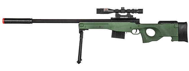 P2703G SPRING RIFLE w/ SCOPE (GREEN)