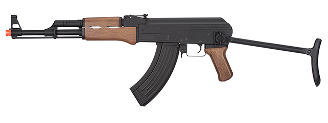 JG0507T FULL METAL AK-47 FAUX WOOD METAL GEARBOX AEG RIFLE (BLACK)