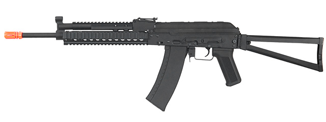 Lancer Tactical Full Metal AK-74 KTR RIS AEG Airsoft Rifle (BLACK)