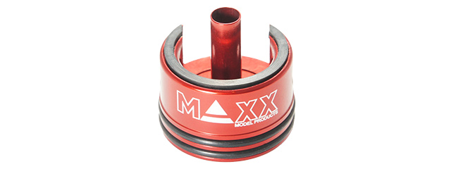 MX-CYL001CHS ALUMINUM DOUBLE AIRSEAL & DAMPER AEG CYLINDER HEAD (RED)