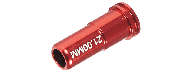 MX-NOZ2100AL 21.00MM ALUMINUM DOUBLE O-RING AIR SEAL NOZZLE AEG (RED)