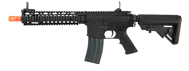 E&L AIRSOFT MK18 MOD1 CARBINE AEG RIFLE (PLATINUM VERSION) (BLACK)